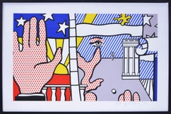 Roy Lichtenstein, Inaugural Print, screenprint in colours, signed, 1977