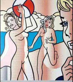 "Roy Lichtenstein ""Nudes with Beachball"" Artprint after the original of 1994"