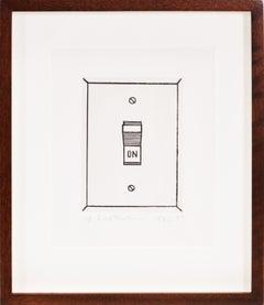 Roy Lichtenstein, On (Switch), etching, 1962
