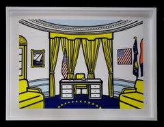 Roy Lichtenstein 'Oval Office' Screenprint 1992