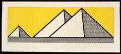 Roy Lichtenstein 'Pyramids' Lithograph, 1969