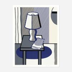 Roy Lichtenstein 'Still Life with Table Lamp' 1988 Screenprint