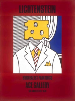 "Roy Lichtenstein-Surrealist Paintings (Cheese Head)-60"" x 44.25""-Poster-1978"