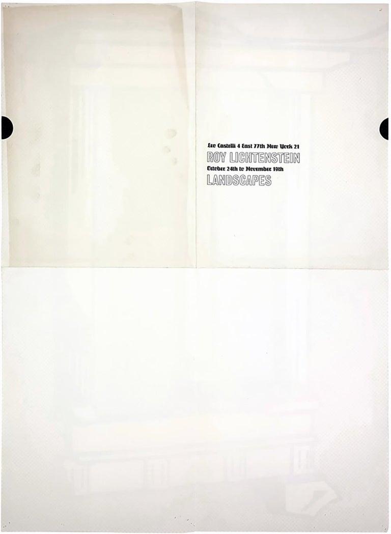 Roy Lichtenstein Temple (Castelli mailer) 1964 - Gray Figurative Print by Roy Lichtenstein