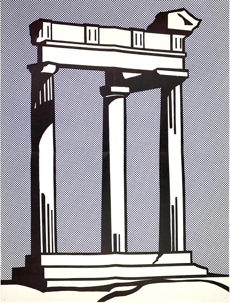 Roy Lichtenstein Temple (Castelli mailer) 1964 - Print by Roy Lichtenstein