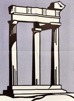 Roy Lichtenstein Temple (Castelli mailer) 1964