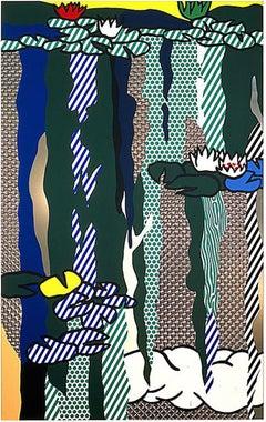 Roy Lichtenstein, Water Lilies with Cloud, 1992 Screenprint
