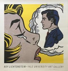 Roy Lichtenstein, Yale University Art Gallery (Thinking of Him), Signed Print