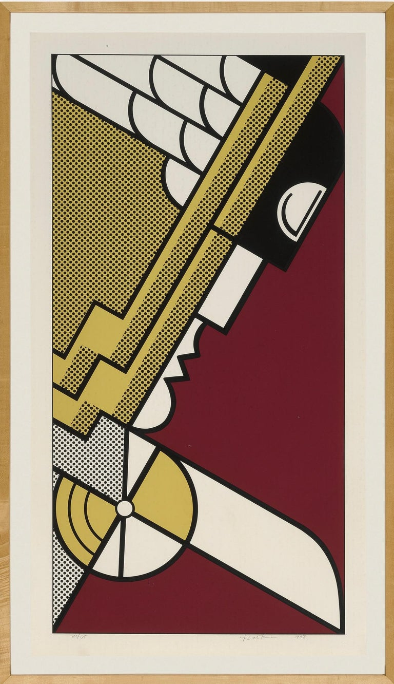 Roy Lichtenstein Print - Salute to Aviation Corlett 63