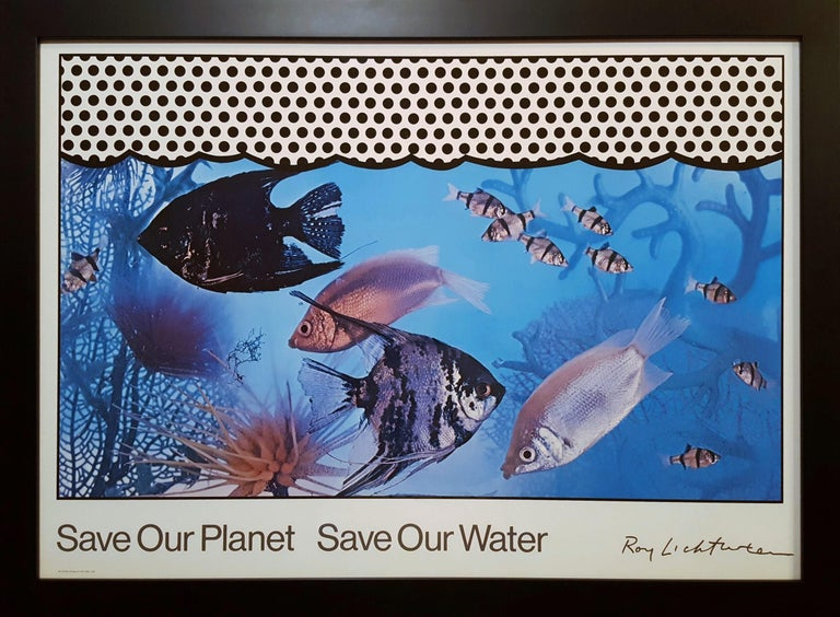 Save Our Planet Save Our Water - Print by Roy Lichtenstein