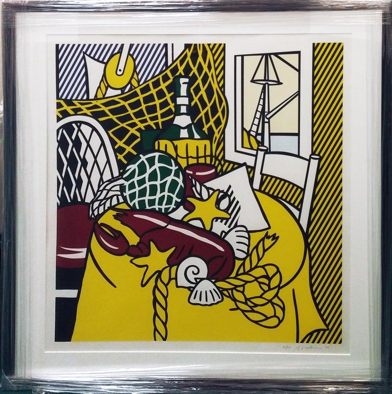 Roy Lichtenstein Interior Print - STILL LIFE WITH LOBSTER