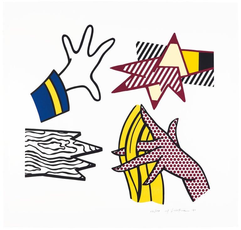 Roy Lichtenstein Figurative Print - Study of Hands