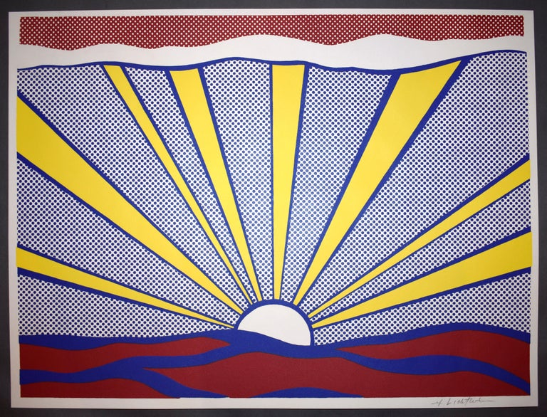 Roy Lichtenstein Landscape Print - Sunrise