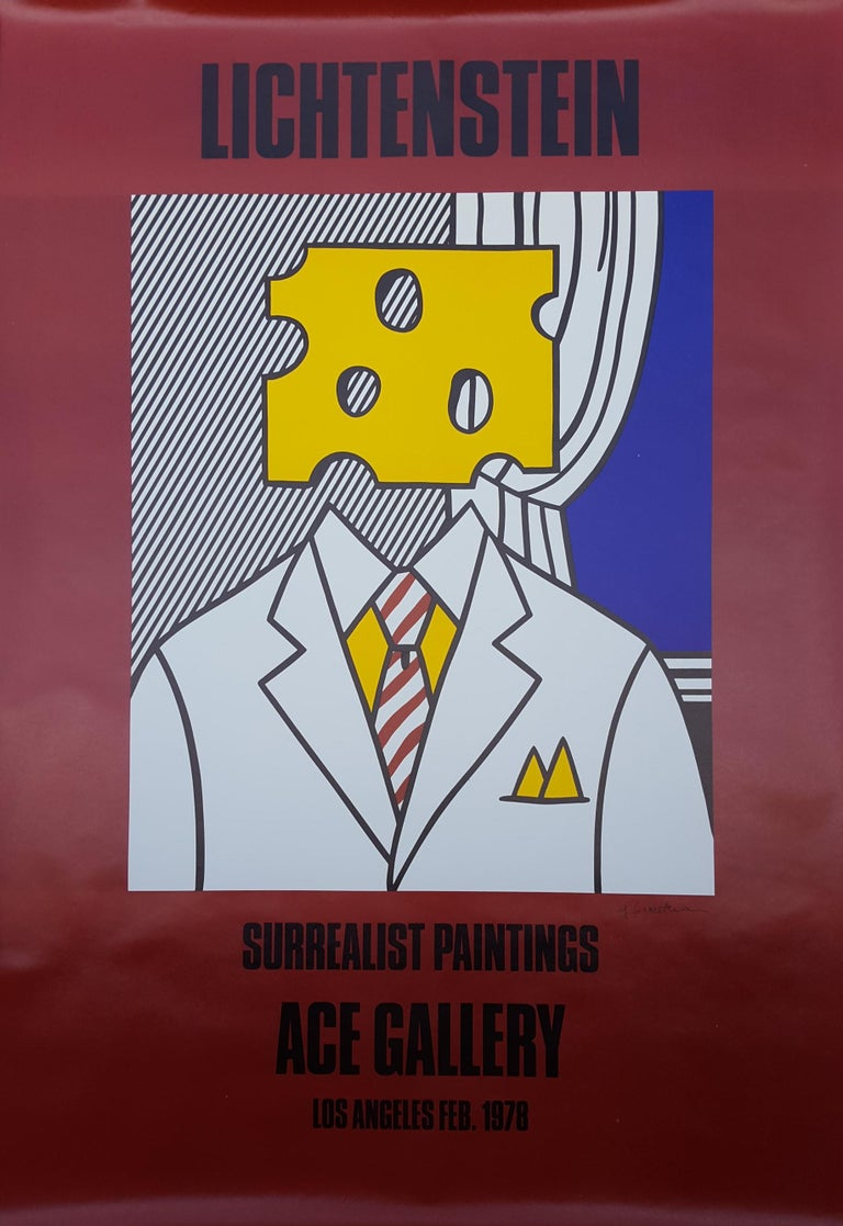 Roy Lichtenstein Portrait Print - Surrealist Paintings: Ace Gallery (Signed)