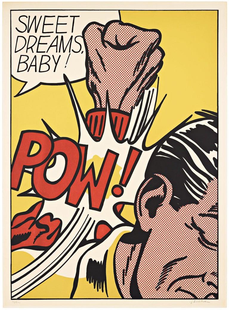 Roy Lichtenstein Portrait Print - Sweet Dreams Baby!