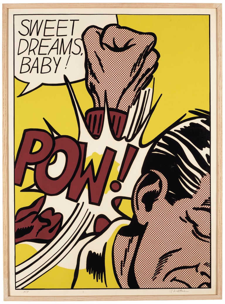 Roy Lichtenstein Print - Sweet Dreams Baby!