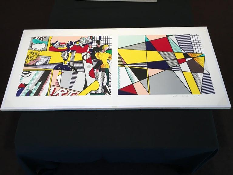 Tel Aviv Museum Print  - Beige Figurative Print by Roy Lichtenstein