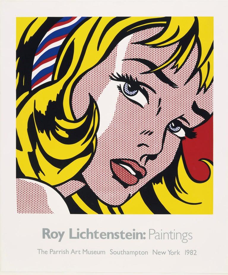 The Parrish Art Museum (Girl with Hair Ribbon 1965) Roy Lichtenstein - Pop Art Print by Roy Lichtenstein