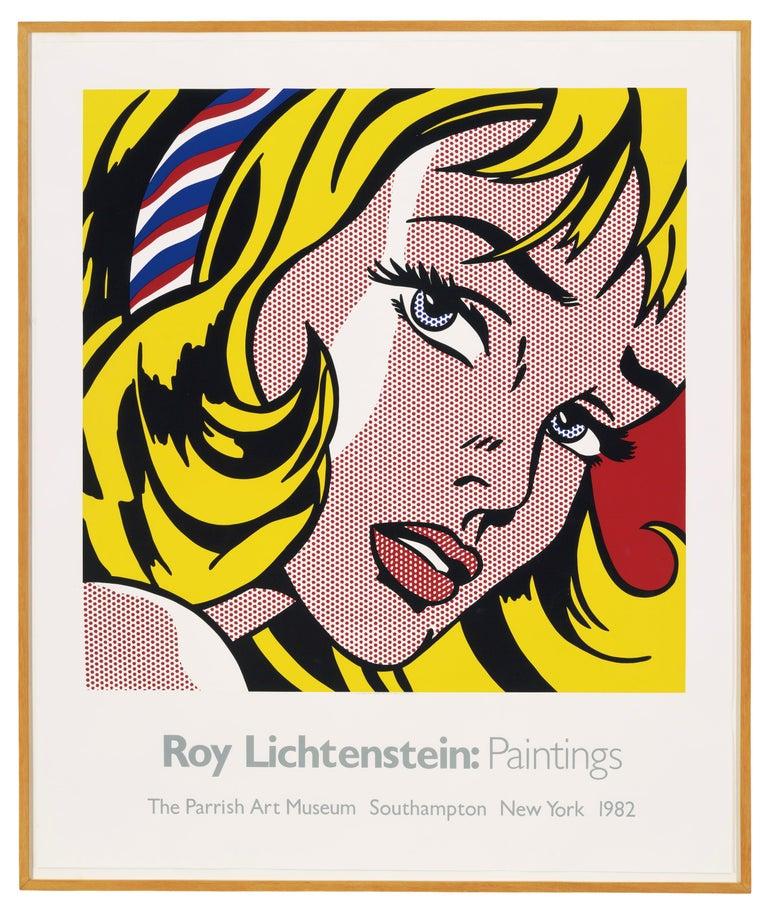 The Parrish Art Museum (Girl with Hair Ribbon 1965) Roy Lichtenstein - Print by Roy Lichtenstein