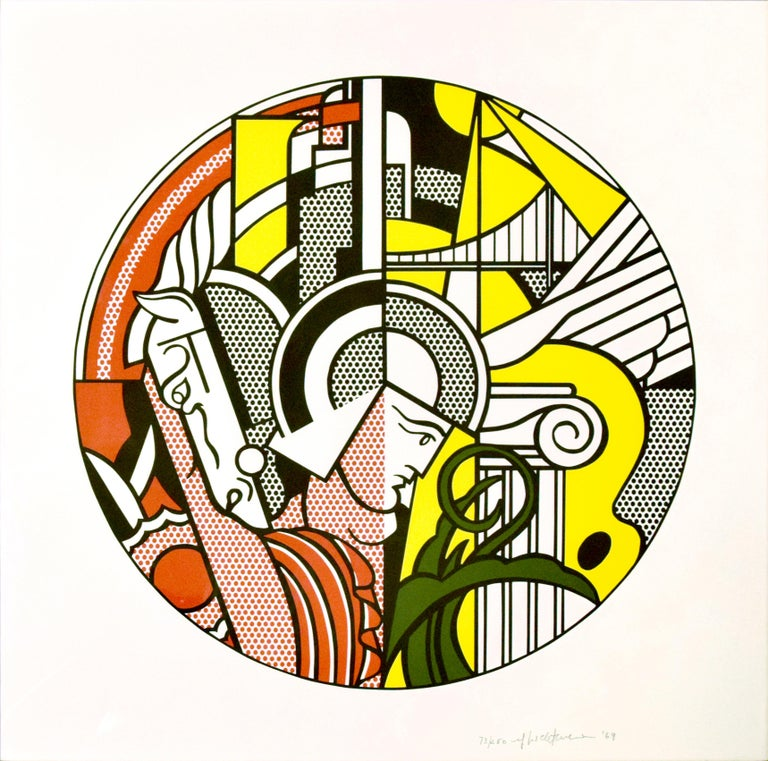 The Solomon R. Guggenheim Museum Poster is a beautiful, important and rare screenprint on Rives paper, realized in 1969 by Roy Lichtenstein. Edition 73/250. Catalogue Raisonné: Corlett 83. Numbered, signed (rf. Lichtenstein), and dated ('69) in