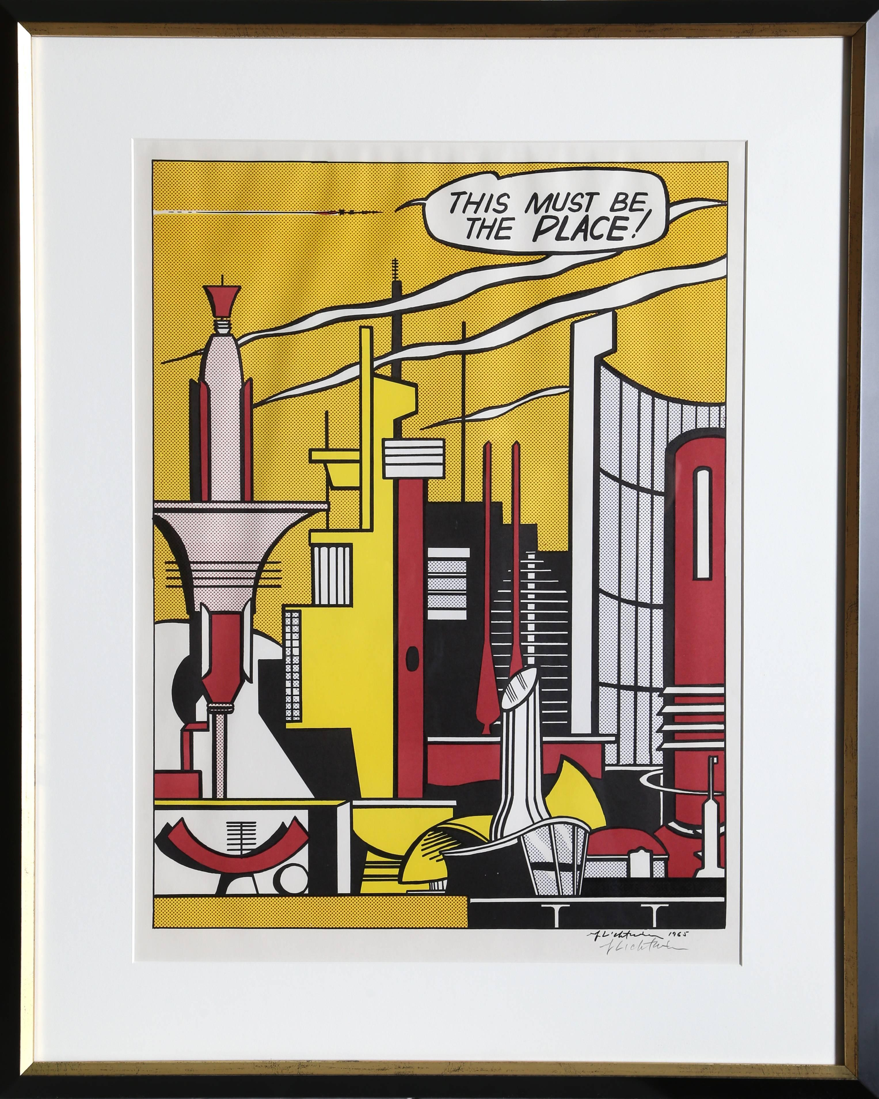 This Must Be the Place (C. III.20), by Roy Lichtenstein 1965