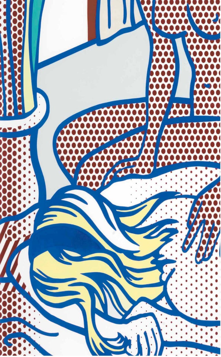Artist: Roy Lichtenstein (1923-1997) Title: Two Nudes, State I (Corlett 285) Year: 1994 Edition: 10, plus proofs Medium: Relief print in colors on Rives BFK mold-made paper Size: 48 x 41 inches Condition: Excellent Inscription: Signed, dated, and