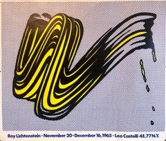 Vintage Offset Lithograph 'Brushstroke' Roy Lichtenstein Pop Art Castelli Poster