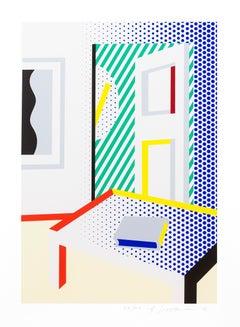 Virtual Interior with Book -- Print, Interior, Pop Art by Roy Lichtenstein