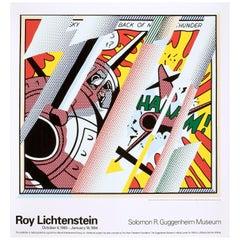 Roy Lichtenstein 'Reflections Whaam' Rare Original 1993 Poster Print