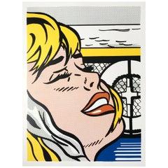 (after) Roy Lichtenstein 'Shipboard Girl' Rare 1982 Print on Wove Paper