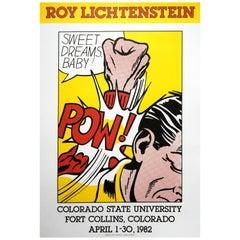 Roy Lichtenstein 'Sweet Dreams, Baby!' Rare Vintage 1982 Poster Print