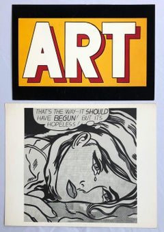Roy Lichtenstein Vintage Announcements, Set of 2