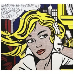 After Roy Lichtenstein, Pop Art Modern Print Art of the Sixties, Silkscreen