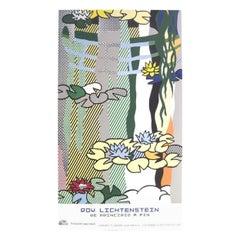 Roy Lichtenstein Water Lilies Original Vintage Poster