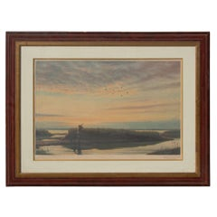 Roy Nockolds Lithograph, The Morning Flight