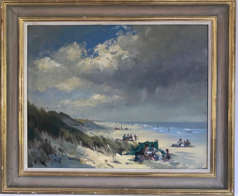 BANK HOLIDAY PASSING STORM  Roy Petley 1950 renowned Contempary British artist  - Painting by Roy Petley