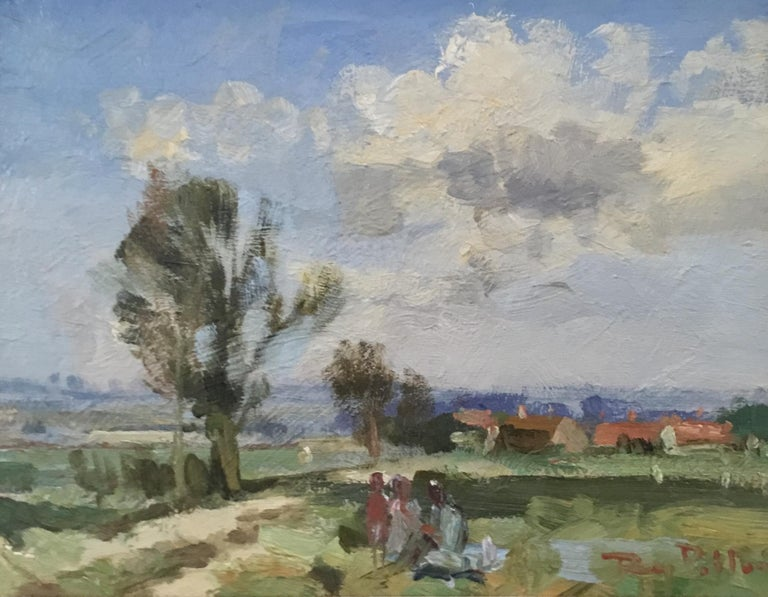 PASSING STORM.Roy Petley contemporary British artist - Impressionist Painting by Roy Petley