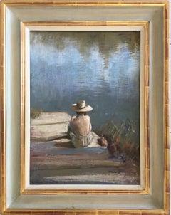 SUNNING HER BACK DORGDOGNE, Roy Petley contemporary British artist