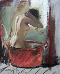 THE RED BOWL,,Roy Petley Contemporary British artist