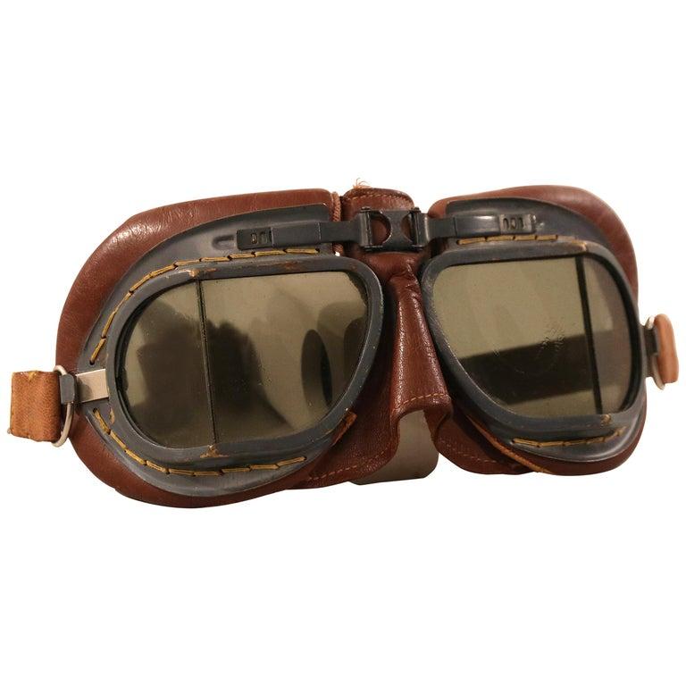 bfa762675583 Royal Air Force Aviatior Goggles original WWII For Sale. Original British  Army aviator ...