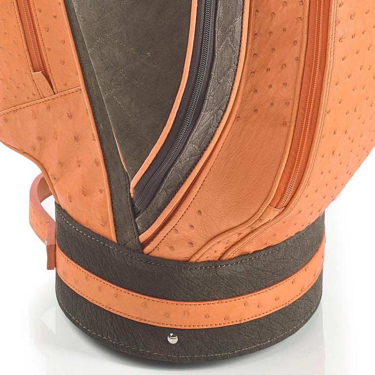 Italian Royal Apricot Golf Bag by Barchi For Sale
