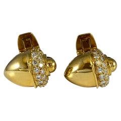 Hammerman Brothers Royal Ascot Diamond Acorn Cufflinks