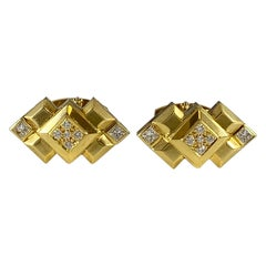 Royal Ascot Diamond Art Deco Style Cufflinks