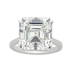 Royal Asscher-Cut Diamond Ring, 10.73 Carats