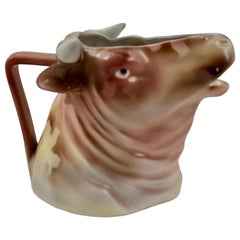Royal Bayreuth Bavarian Porcelain Bulls Head Creamer