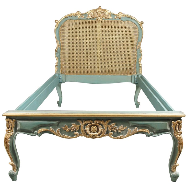 Royal Bed with Wickerwork in the Louis Quinze Style