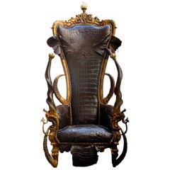 Royal Black Croco Throne