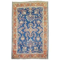 Royal Blue Antique Mohajeran Persian Sarouk Rug