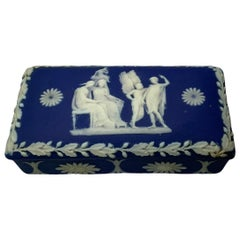 Royal Blue Jasperware Trinket Box