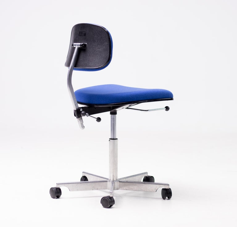 Mid-20th Century Royal Blue Kevi Desk Chairs For Sale